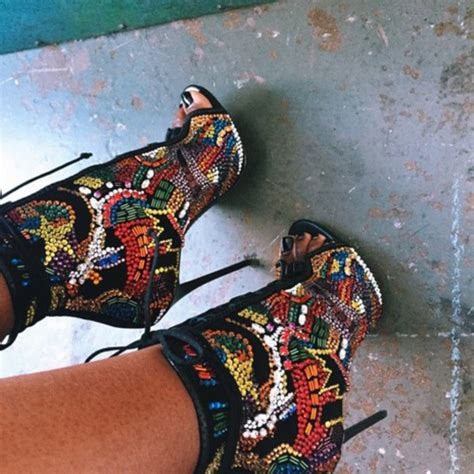 multi colored high heels shoes high heels sandal heels multicolor peep toe
