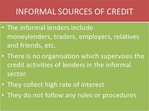 Formal Informal Sector Credit Money And Credit Cbse Class X