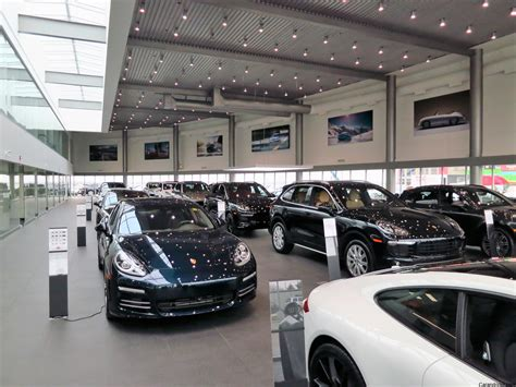porsche dealership inside calgary porsche opens 23 car showroom at location