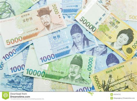 currency converter won south korean won currency stock photo image 41014712