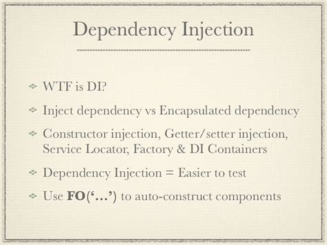 laravel dependency injection setter unit testing for 40 square software