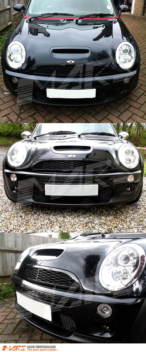 mini cooper abs light gloss black jcw style abs grill grille mini cooper