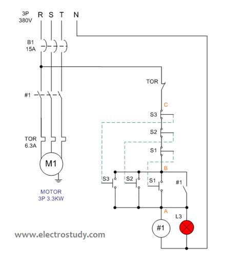 wiring diagram 3 phase motor kw with 3 phase water heater