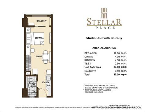 studio floor plan layout stellar place quezon city dmci homes online