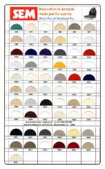 sem color coat chart boat vinyl aerosol paint chart