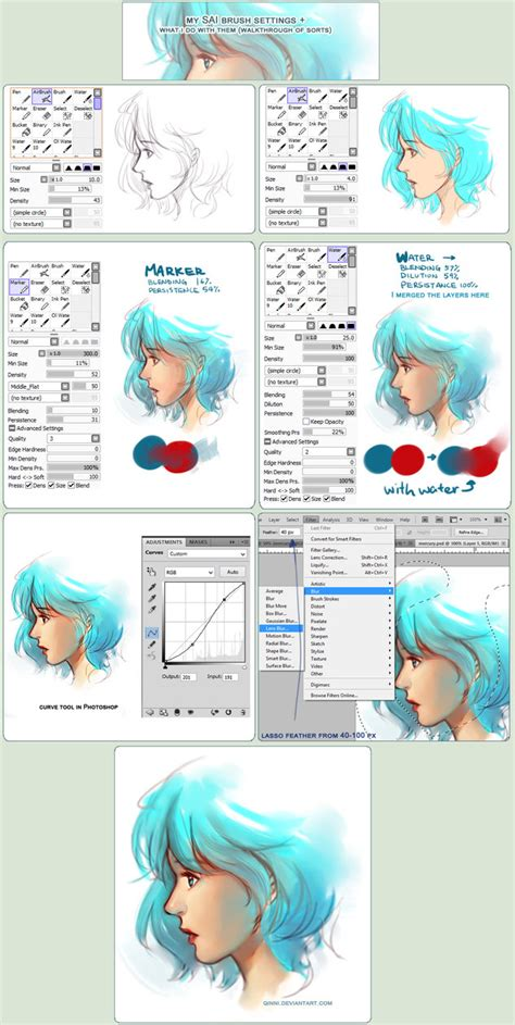 bmaster23 paint tool sai password sai brush setting how they re used walkthrough by qinni