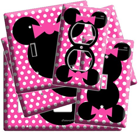 minnie mouse room decor toddler new minnie mouse pink polka dots room decor light switch outlet ebay