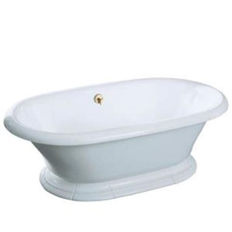Cast Iron Bathtubs Home Depot by Kohler Vintage 6 Ft Center Drain Free Standing Cast Iron