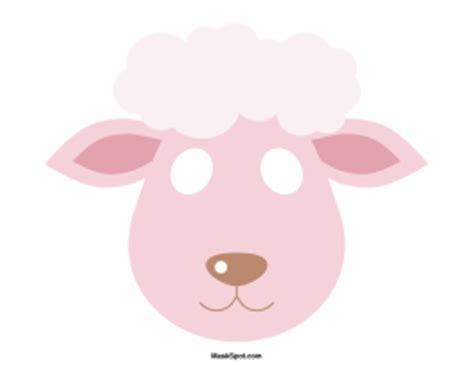 new year sheep mask template printable mask