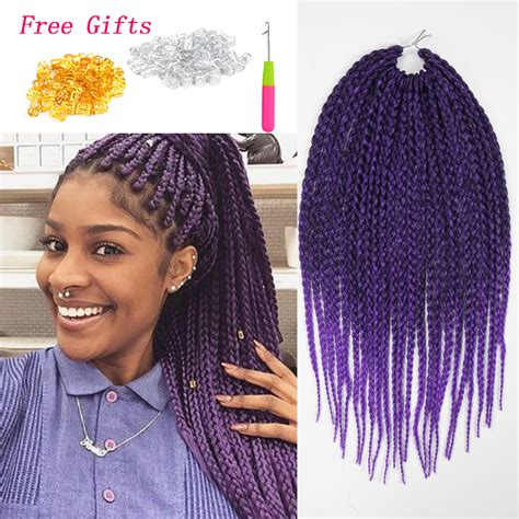 box braids with 2 packs of hair stylish crochet braids synthetic braiding hair tight box