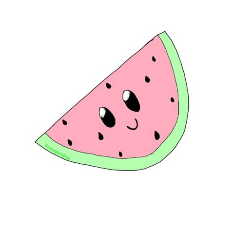 watermelon emoji transparent art kawaii on instagram