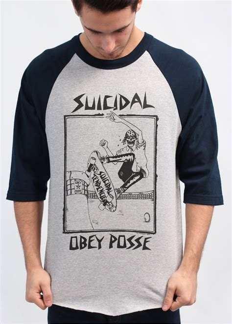 Tshirt Suicidal Tendencies Putih obey x suicidal tendencies pool skater t shirt grey navy