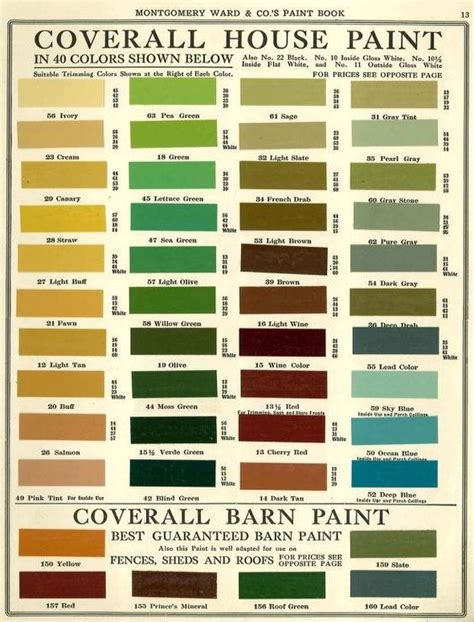 montgomery ward house paint colors 1915 historic paint colors palletes paint