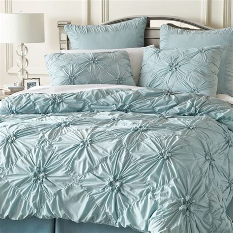 savannah bedding pier 1 savannah ruched bedding celestial blue let s