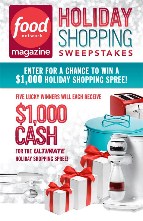 hearst magazine sweepstakes food network magazine s holiday shopping sweepstakes