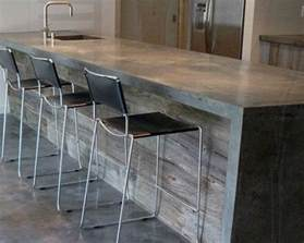 concrete countertops reclaimed wood bar modern for