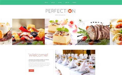 Catering Web Template Grocery Delivery Website Template