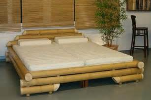 bamboo bed frame with 2 bed mattresses jkazzie