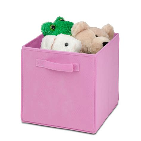 light pink storage cubes honey can do 4 pc non woven foldable storage cube in pink