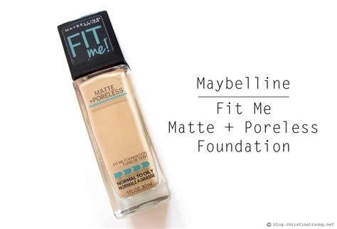 Maybelline Fit Me Foundation Warm truong maybelline fit me matte poreless foundation