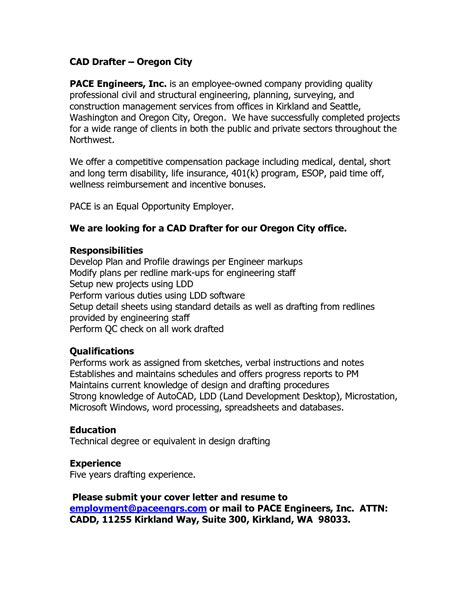 Cad Drafter Sle Resume by Cover Letter Cad Drafter Docoments Ojazlink