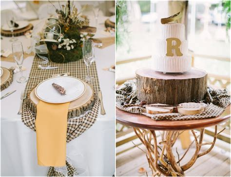 table decoration elegant virginia woodland rustic wedding rustic wedding chic