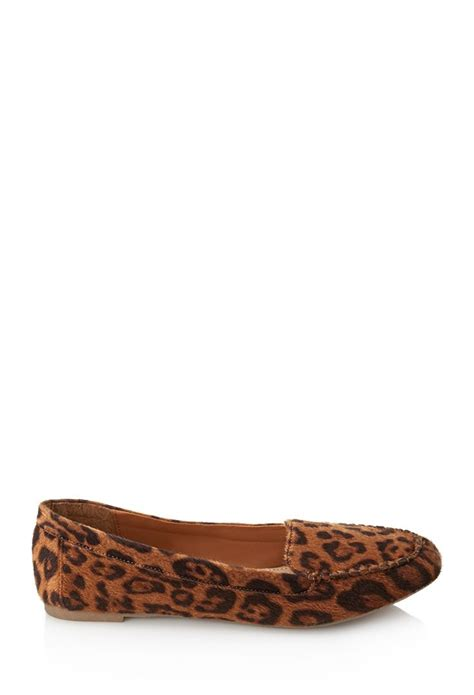 leopard loafer flats pony hair leopard loafers