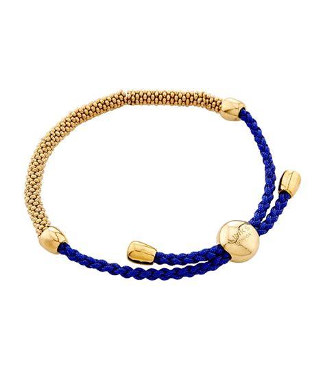 cord jewelry links of effervescence xs cord bracelet in blue lyst