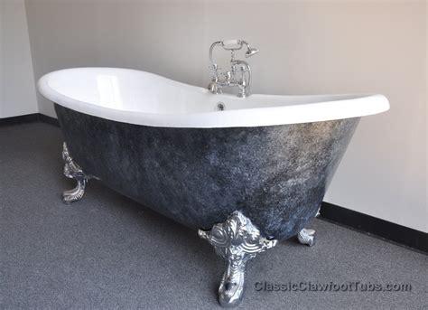 clawfoot bathtub feet 71 quot cast iron double ended slipper clawfoot tub w imperial