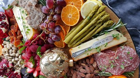 party season started   holiday grazing board clean food crush