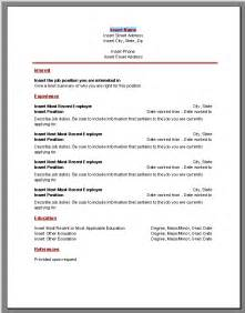 Resume Sles Word Format by Microsoft Resume Templates
