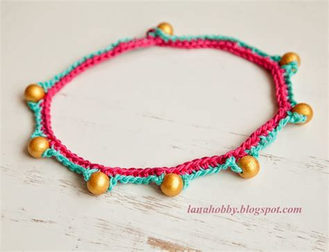 bead necklace tutorial patterns creations my knitting work knit project and free
