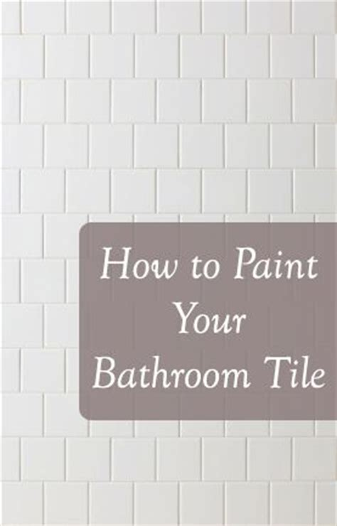 how to paint a bathroom 17 best ideas about painting tiles on pinterest painted