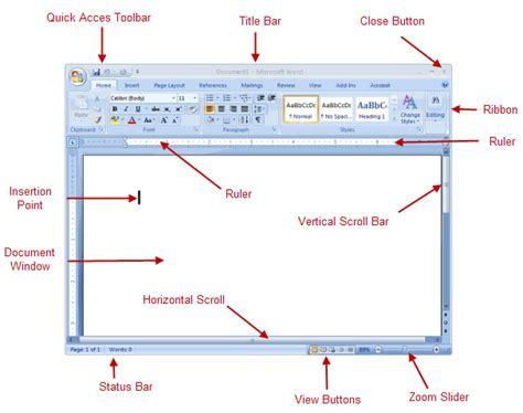screen layout microsoft word 2010 studyzone