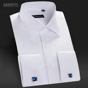 aliexpress com buy mens white french cuff dress shirt