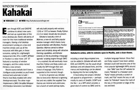 layout of an article linux format kahakai article