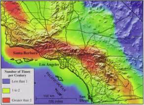 california earthquake risk map southern californians cope with earthquakes