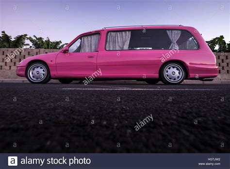 vauxhall pink pink vauxhall omega hearse with uk registration being used