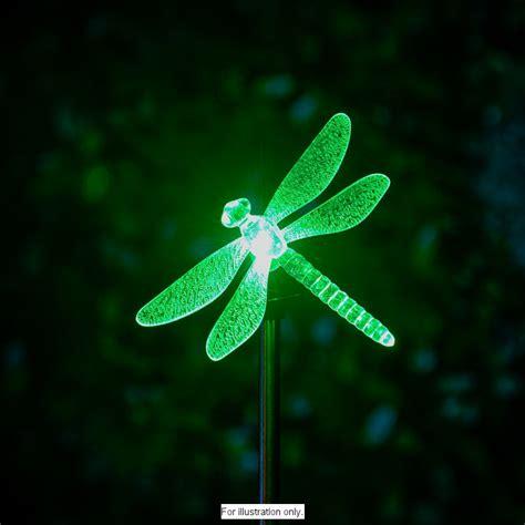 B M Colour Changing Solar Stake Light Dragonfly Dragonfly Solar Stake Light