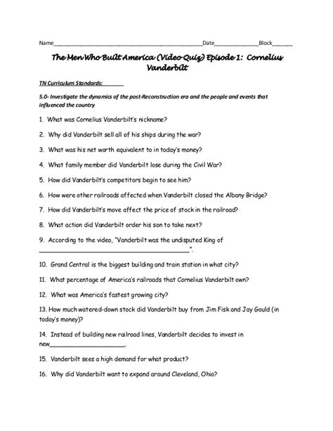 The Who Built America Worksheet 28 the who built america worksheet the who
