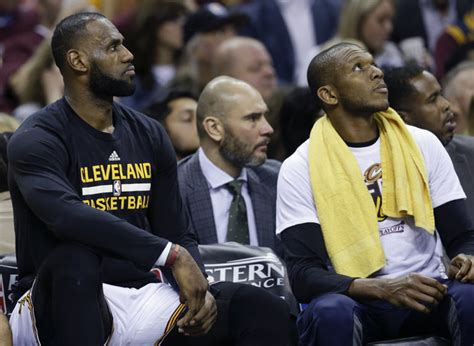 lebron on the bench lebron james misses huge dunk as cleveland cavaliers rally