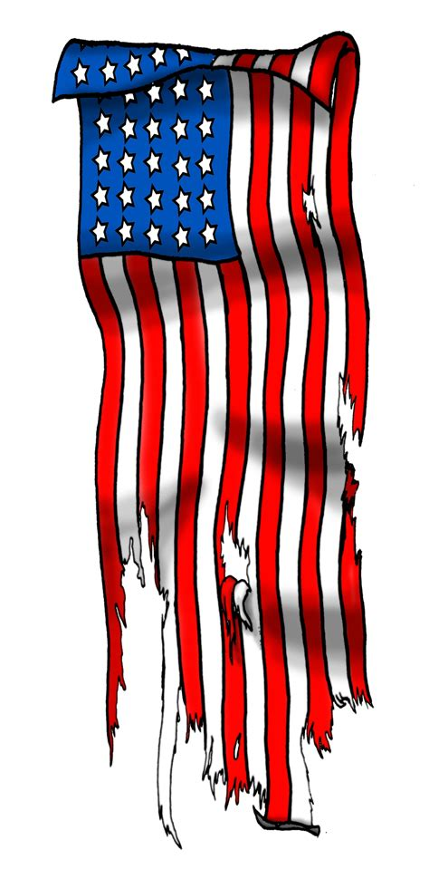 tattered american flag tattoo tattered flag by gbcink on deviantart