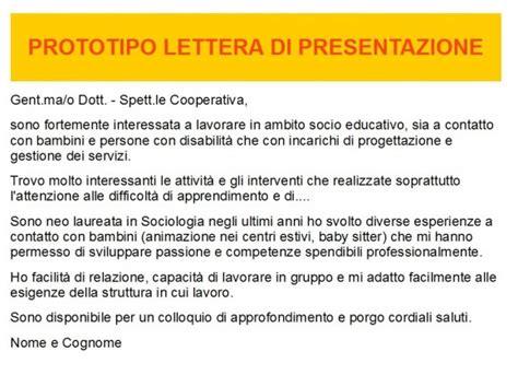 lettere di presentazione autocandidatura il curriculum la lettera di presentazione il colloquio