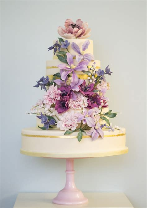 floral themed wedding cakes photo gallery