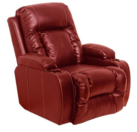 red leather recliner top gun red leather power recliner from catnapper