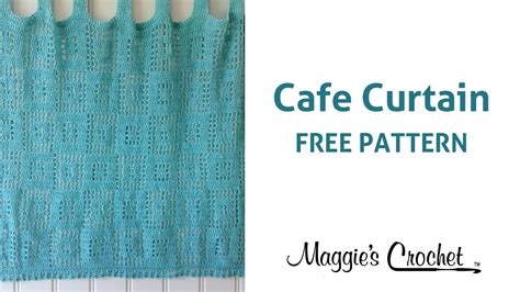 crochet cafe curtains pattern cafe curtain free crochet pattern right handed youtube