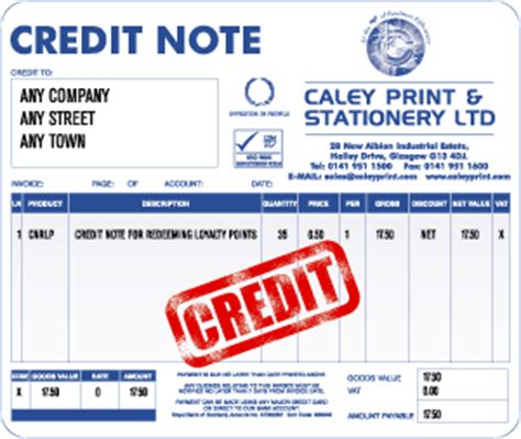 Credit Note Form No 9 Accounting For Dummiez Uses Of A Credit Note In Accounting