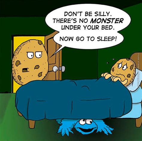 monster under the bed comic cartoons very funny pics