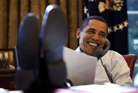 Obama On Desk by Obama Put On Oval Office Desk And Are