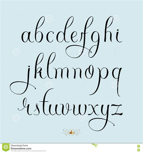 tattoo font lowercase hand drawn lowercase font stock vector illustration of
